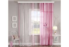 Gordijnen Babykamer Roze : Babykamer roze gordijn en vitrage meisjeskamer peuterkamer