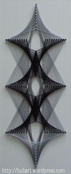 String Craft Geometry D String Art Kits DIY Home Decor for Adults 40x40cm