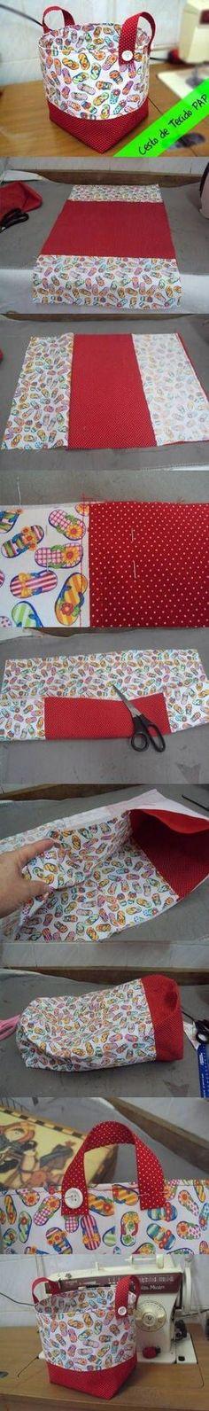 DIY Easy Fabric Basket DIY Projects