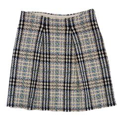 Pre-owned Burberry Plaid Wool Skirt ($139) ❤ liked on Polyvore featuring skirts, tartan skirt, wool skirt, burberry skirt, burberry and woolen skirts