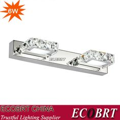 Find More Wall Lamps Information about Ecobrt  Modern Lighting 6W 32CM Square LED crystal bathroom lights mirror lamp Champane &Transparent  color,High Quality lighting pendant lights,China light emitting diode christmas lights Suppliers, Cheap light orange prom dresses from NAT LIGHTING on Aliexpress.com