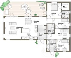 Luxury H omes em Miami Square House Plans, House Floor Plans, Sims Building, Building A House, House Layouts, My Dream Home, Planer, House Design, How To Plan