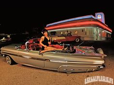 Impala with Skirts & Continental Kit My Dream Car, Dream Cars, 59 Chevy Impala, Car Bomb, Lowrider Art, Car Colors, Us Cars, Amazing Cars, Cool Cars