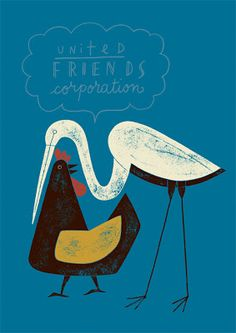 Animals in Love by JM Duvivier via Kickcan & Conkers