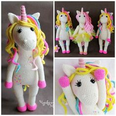 Most Popular Crochet Unicorn Patterns..so cute!!