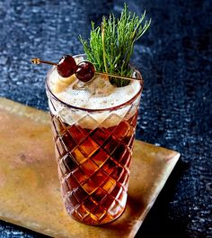 Cocktail Recipes, Cocktails, Drinks, Black Cherry Soda, Cocktail Ingredients, Cocktail Making, Scotch Whisky, Tableware, Barrel