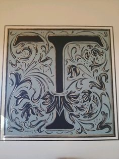 Hand painted initial by Lezley Lynch Designs, Edmond, Ok