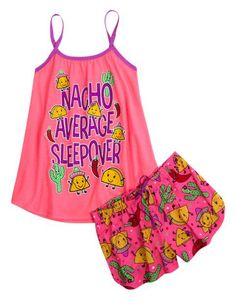 Nacho Average Sleepover Pajama Set | Girls Pajamas Pjs, Bras Panties | Shop Justice - http://how-do-it.info/nacho-average-sleepover-pajama-set-girls-pajamas-pjs-bras-panties-shop-justice/