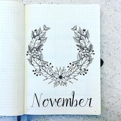 Starting on November early as there's a lot going on leading up to the holiday season. #bulletjournal #bulletjournaling #bulletjournaljunkies #bujo #bujojunkies #bujolove #bulletjournalcommunity #bujocommunity #bujobeauty #plan #planner #personalplanning #showmeyourplanner #planning #november #schedule #scheduling #journalcommunity #journaling #flowers #botanicalillustration #floral #bujobug #wreathdrawing