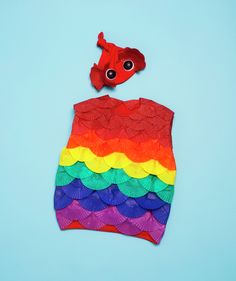 How To: Make Rainbow Fish - here's the hat for my fish! Perfect.