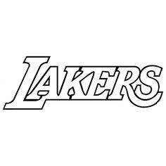 NBA Lakers Die Cut Vinyl Decal PV753