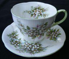 Vtg Royal Albert England Pinky Cup Saucer Orange Blossom Time Series Bone China
