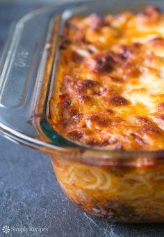 Baked Spaghetti Recipe on SimplyRecipes.com