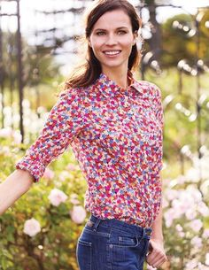 42e639d1888 I ve spotted this  BodenClothing The Casual Shirt Floral Blouse