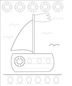 trace boat worksheet | Crafts and Worksheets for Preschool,Toddler and Kindergarten