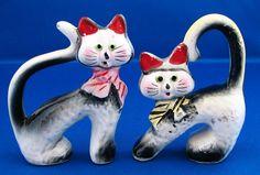 rubylane.com, cat salt and pepper shakers