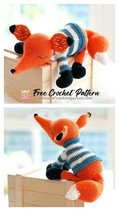 Crochet Fox, Crochet Animals, Free Crochet, Crochet Hats, Crochet Ideas, Step By Step Crochet, Crochet Patterns Amigurumi, Learn To Crochet, Loom Knitting
