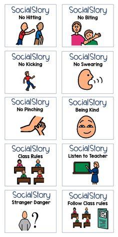 Social Stories Autism, Social Emotional Activities, Autism Activities, Art Therapy Activities, Learning Resources, Special Education Behavior, Kindergarten Special Education, Special Educational Needs, Behavior Interventions