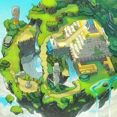 Sonic Chronicles Map Art: Angel Island by joy-ang.deviantart.com on @deviantART