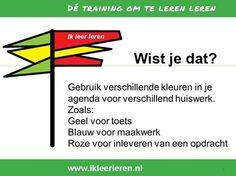 Uit de training: Ik leer leren Wil jij ook leren hoe je moet leren? Kijk eens op www.pvccm.nl