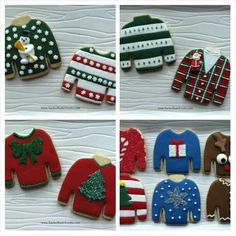 Chastity Latimer:  ideas for the ugly sweater cookie.