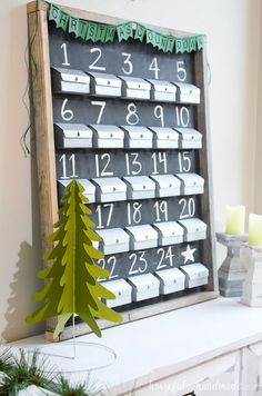 Rustic Chalkboard Advent Calendarcountryliving
