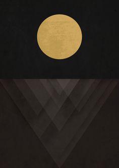 Moon Reflection on Quiet Ocean Canvas Print