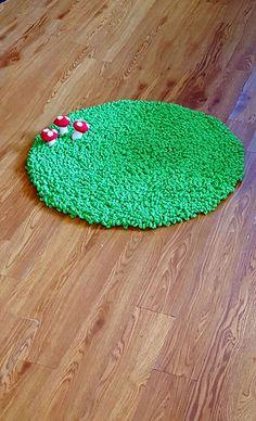 Grass Rug With Raised Mushrooms From Vertbaudet 163 59