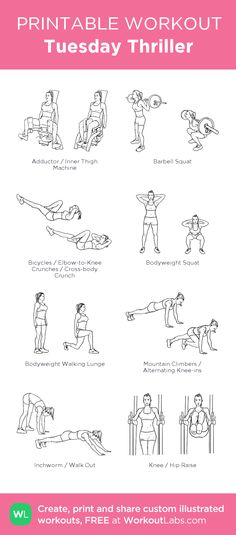 Tuesday Thriller - Find more information and other awesome workouts on www.cinnamonsquatsandchiffon.com!