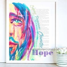 Jesus, watercolor, H