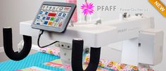 Check out the All New Pfaff PowerQuilter - Power. Everyting you are looking for in a Long Arm Quilting Machine Long Arm Quilting Machine, Machine Quilting Patterns, Longarm Quilting, Free Motion Quilting, Quilting Tips, Quilting Designs, Machine Embroidery, Arm Machine, Sewing Machine Brands