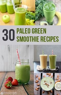 Check out all these delicious Paleo green smoothie recipes. Man, I never knew there could be so many variations of a green smoothie, but there sure are.