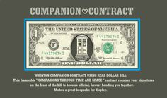 Doctor Who Inspired COMPANION CONTRACT Using REAL Money- Frameable Keepsake