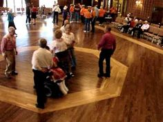 Dancer in a wheelchair with mad square dance skills dancing Plus!