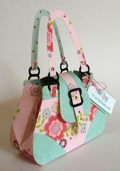 My Craft Spot: Sneak Peek Day - Build A Birthday purse paper trapecio 3d Paper Crafts, Diy Paper, Treat Bags, Gift Bags, Paper Purse, Paper Bags, Shaped Cards, Diy Cards, Scrapbooking