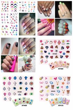 [Visit to Buy] FWC Monster Series 3D Nail Sticker Colorful Decals Manicure Nail Art Sticker Decoration #Advertisement