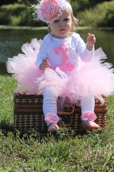 1st birthday girl tutu outfits - OMG. Frickin' ADORABLE--but G has WAAAAY too many cute outfits...pretty sure she will outgrow them before I can photograph her in them!