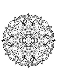 Free Coloring Pages Mandala. 30 Free Coloring Pages Mandala. Mandala From Free Coloring Books for Adults 23 Mandalas Free Adult Coloring Pages, Flower Coloring Pages, Mandala Coloring Pages, Free Printable Coloring Pages, Coloring Book Pages, Coloring Sheets, Kids Coloring, Fairy Coloring, Alphabet Coloring