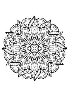 Free Coloring Pages Mandala. 30 Free Coloring Pages Mandala. Mandala From Free Coloring Books for Adults 23 Mandalas Flower Coloring Pages, Mandala Coloring Pages, Printable Adult Coloring Pages, Coloring Book Pages, Coloring Pages For Kids, Coloring Sheets, Kids Coloring, Colouring Sheets For Adults, Fairy Coloring
