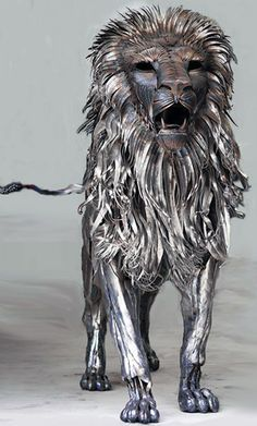 Upcycling Art Httpwwwsteampunktendenciescompost - Artist transforms scrap metal into amazing animal sculptures