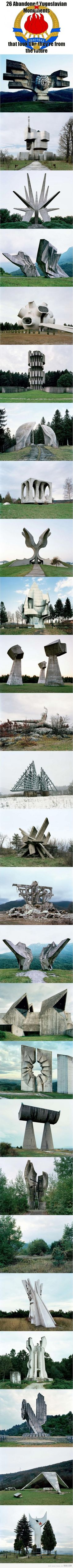 26 Abandoned Yugoslavian Momuments that look like they're from the future!