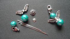 Bastelset Schutzengel DIY guardian angel - Another! Charm Jewelry, Wire Jewelry, Beaded Jewelry, Jewelery, Handmade Jewelry, Wire Crafts, Bead Crafts, Jewelry Crafts, Diy Angels