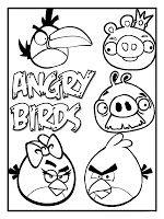 Moldes de los Angry Birds.