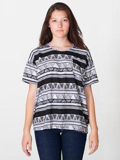Unisex Le New Big Pocket Tee | Crew Necks | Women's T-Shirts | American Apparel