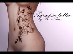 (TS4) Female tattoo - Paradise DOWNLOAD Thank you, if you use it, do not forget to mention me @bexosims and #bexosims, that I could just finding you ♥
