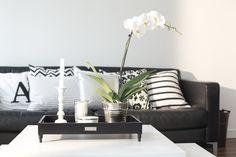 http://mykeminutter.blogspot.no:   My livingroom. Tray from Day Home.