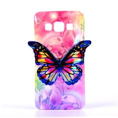 For Samsung A3 Case 3D Butterfly Pattern Soft Silicon Case For Samsung Galaxy A3 Case A300 Women's Style Covers Colorful Skin