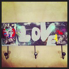 Graffiti Love Key Or Coat Rack  on Etsy, $45.00