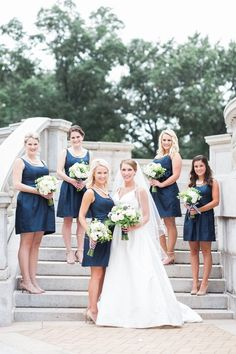 Navy Blue Bridesmaids Dresses | Erin Stubblefield Weddings and Portraits | see more at http://fabyoubliss.com