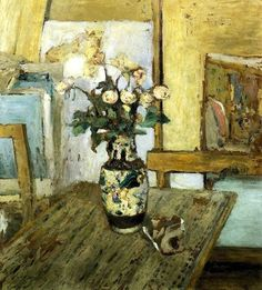 Vase of Flowers : Edouard Vuillard : Post Impressionism : still life - Oil Painting Reproductions Pierre Bonnard, Edouard Vuillard, Flower Vases, Flower Art, Beaux Arts Paris, Impressionist Artists, Claude Monet, Anime Comics, Canvas Art Prints